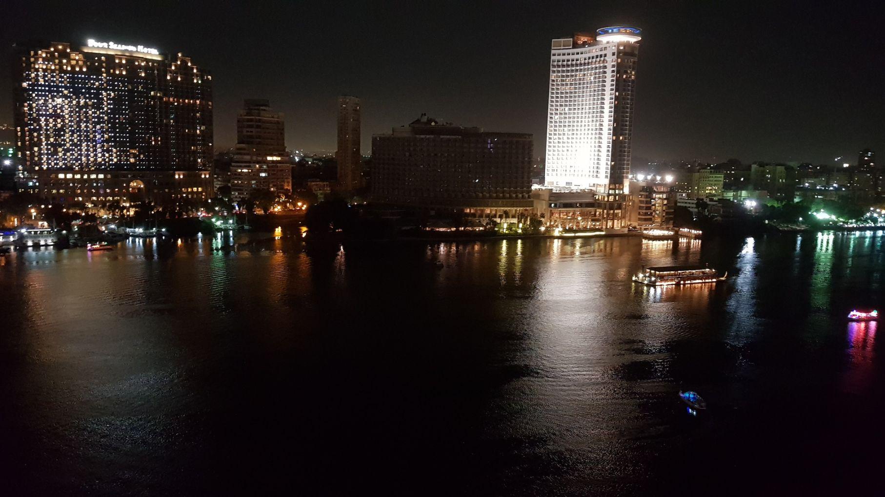 Vista da sacada do quarto - Hotel Sofitel Cairo Nile El Gezirah