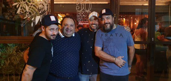 Mario Farulla, Ed Amorim, Marcio Silva e Tato Giovannoni