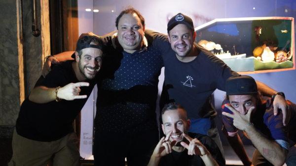 Henrique Sarhan (Vodka Tiiv), Ed Amorim, Guilherme Vitullo (Vodka Tiiv), Lula Mascella (Picco) e Wilson Pires (Guilhotina Bar)