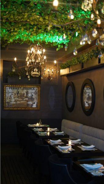 Salão de jantar do Presidente Bar