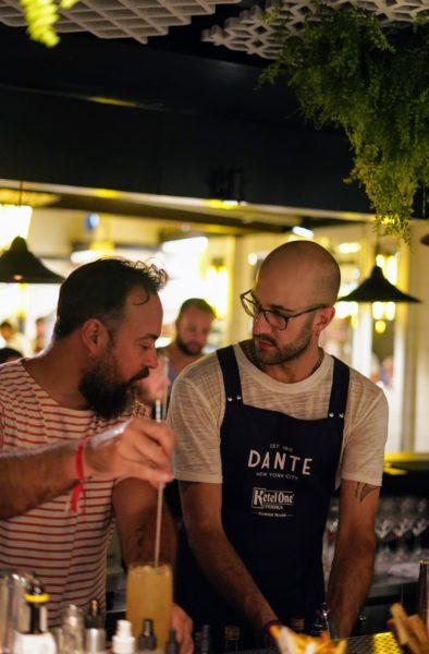 Tato Giovannoni e o anfitrião Fabio La Pietra, Dante NYC in Astor, Rio de Janeiro