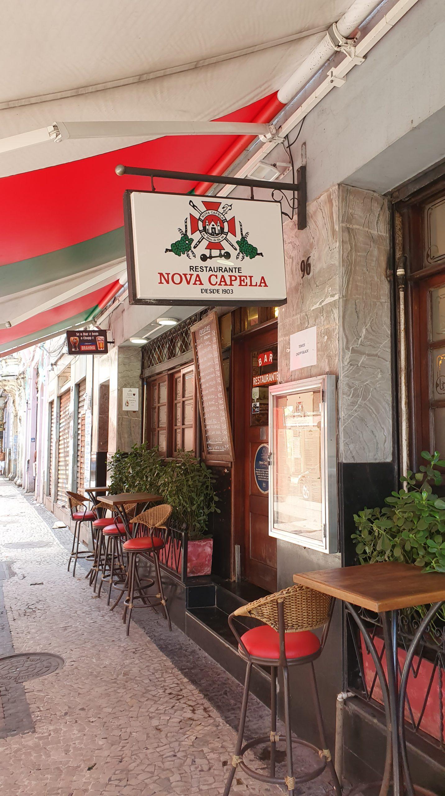 Fachada do Bar e Restaurante Nova Capela